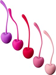Shibari Cherry Kegel Balls, 5 Piece Variable, Weighted Set to Exercise and Tone Pelvic Floor Muscles, Made with Premium Grad