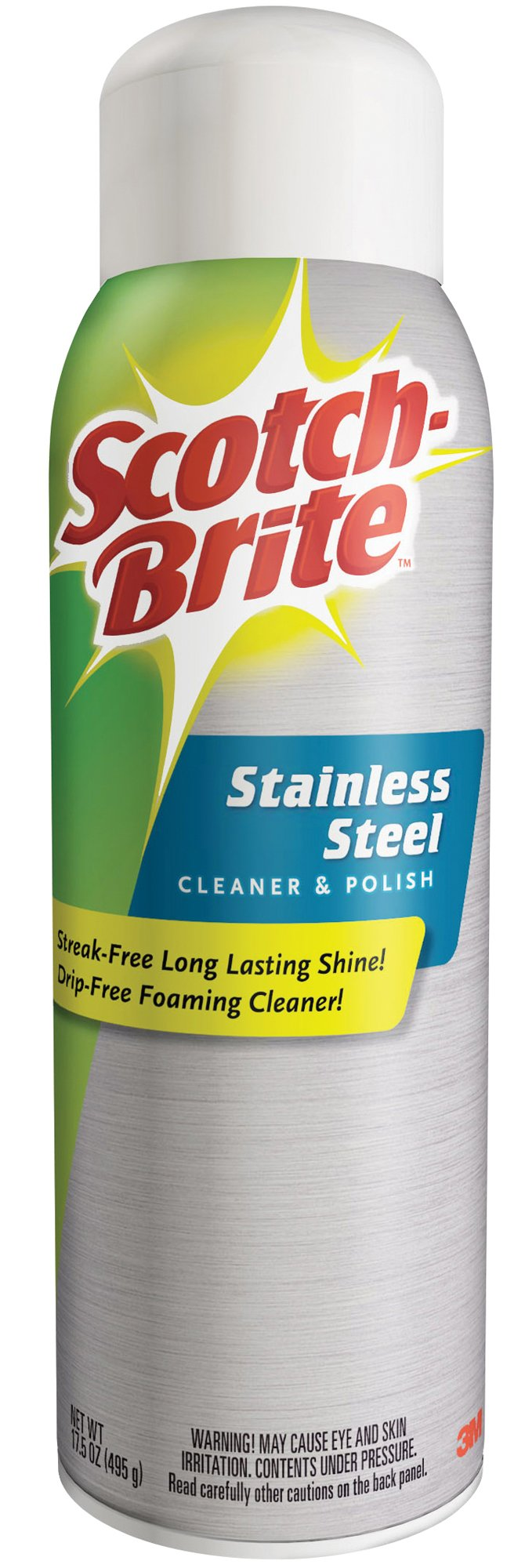 Scotch-Brite Stainless Steel Cleaner and Polish, 6 Cans, 17.5-Ounces, (105 Ounces Total)