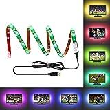 LEBRIGHT LED TV Hintergrundbeleuchtung Streifen,100cm(39Inch) 5V RGB USB Wasserdicht LED Bias Beleuchtung Kit für TV Gaming, Multi Color e Bias Beleuchtung für HDTV