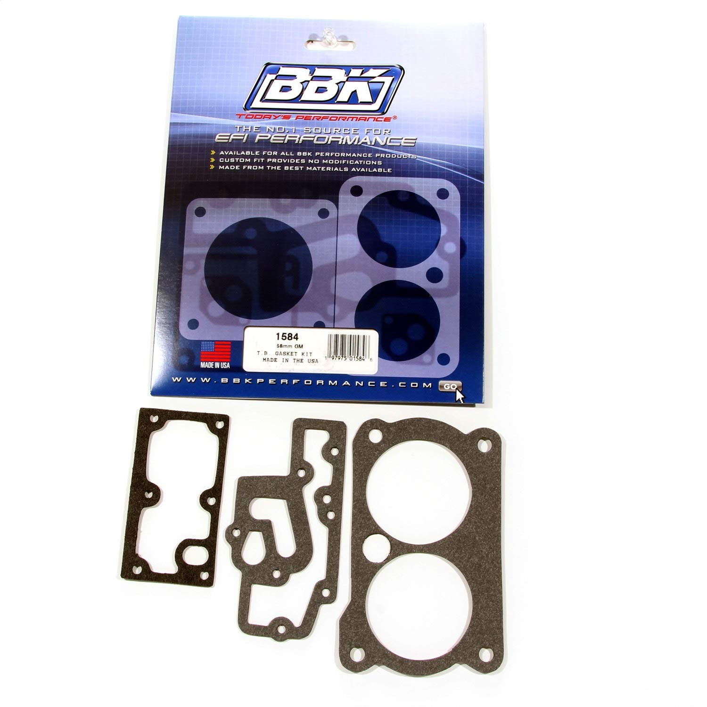 BBK 1584 Twin 58mm Throttle Body Gasket Kit for GM Twin 305/350 BBK Performance Parts