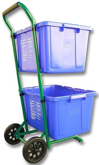 Amazon.com: Carro de reciclaje para reciclar cestos ...