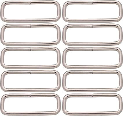 Pack of 10 Light Gold BIKICOCO Metal D-Rings Buckle 1.25 inch Non-Welded for Sewing DIY