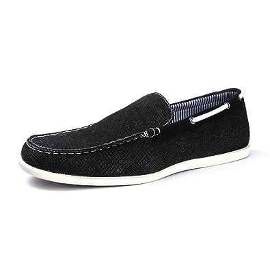 da1408b0fbf Bruno Marc Men s Province Black Driving Loafers Slip On Moccasins Boat Shoes  Size 7.5 ...