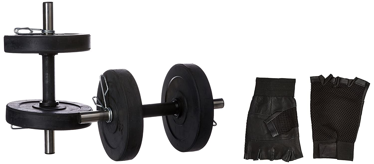 24e300ed67e Buy Protoner Adjustable Rubber Dumbbell Set with Gloves Online at Low Prices  in India - Amazon.in