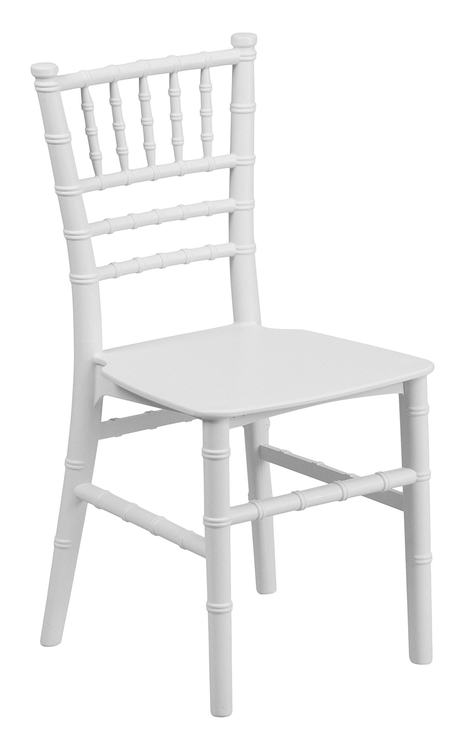 Flash Furniture 10 Pk. Kids White Resin Chiavari Chair by Flash Furniture