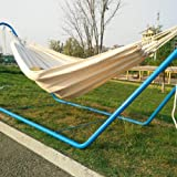 Hammock Swing, Outdoor Portable Canvas Double Hammock Mosquito Net Hanging Hammock Set for Traveling Camping Garden…