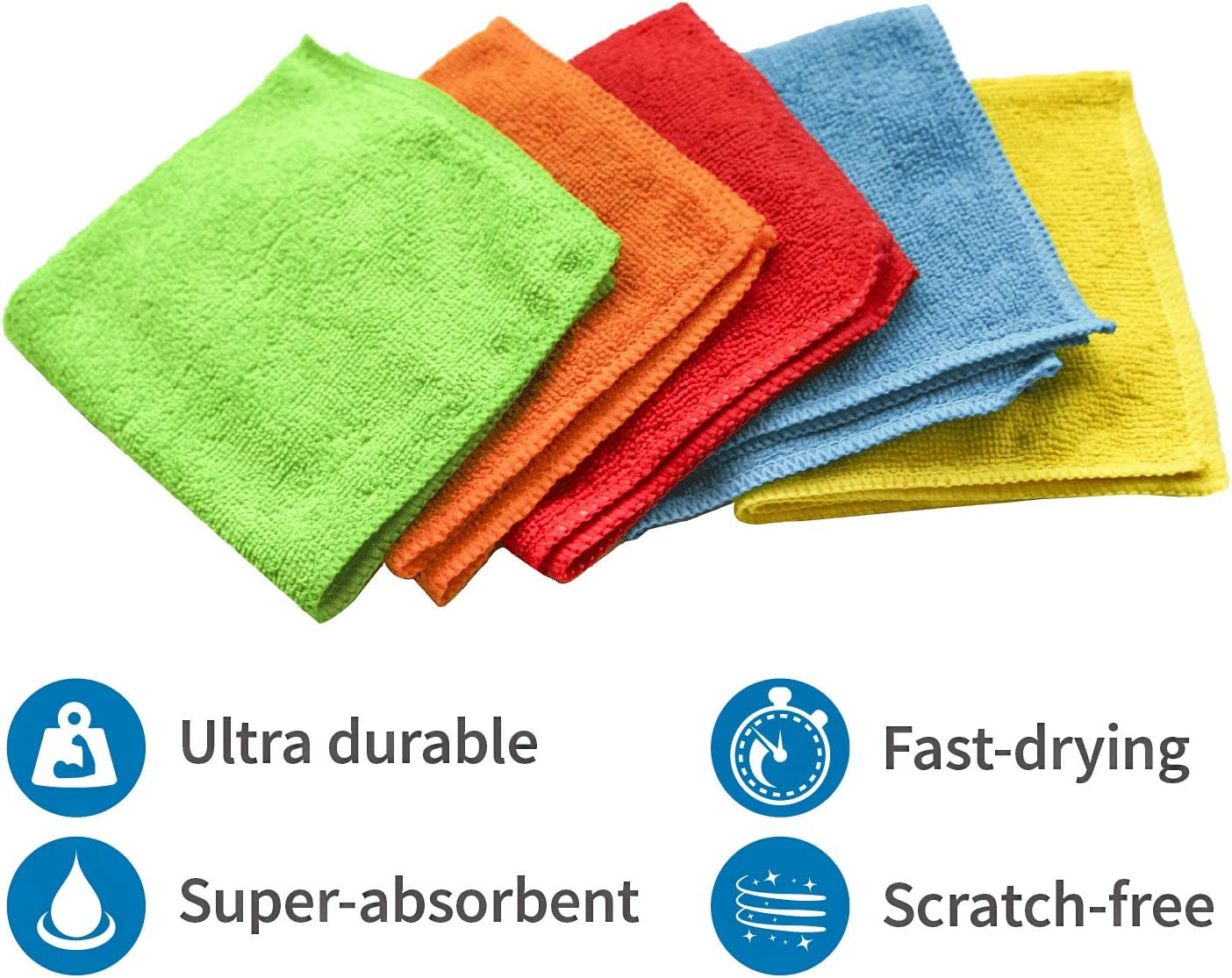 516401 Microfiber Cleaning Cloths S/&T INC 150 Pack