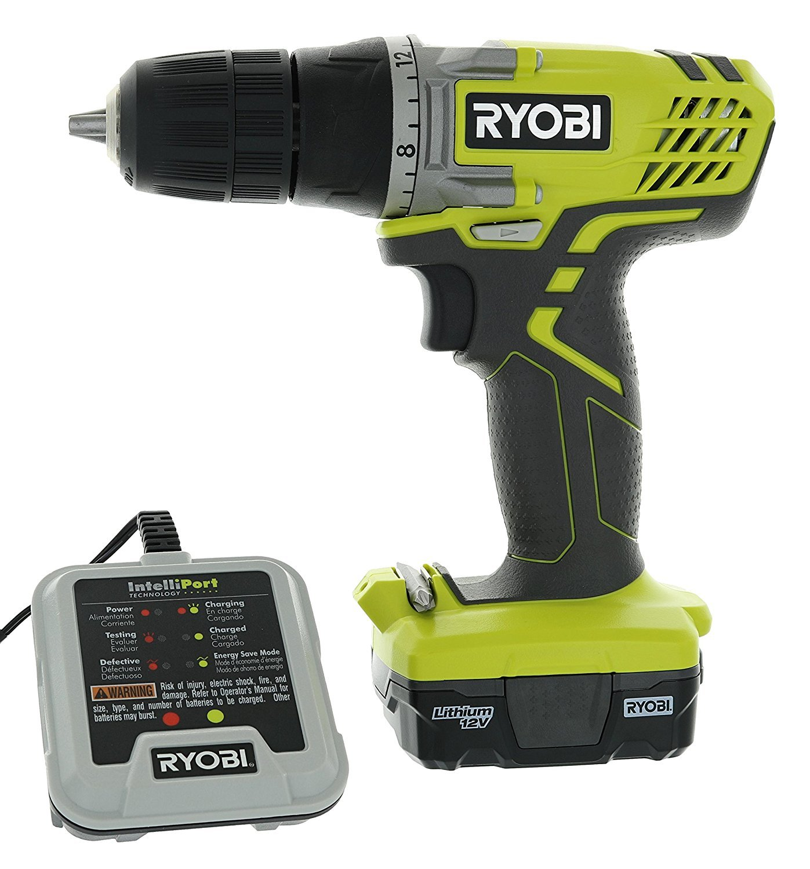 Ryobi HJP004L 3 8 12 Volt Drill Driver Kit 3 Piece Bundle Including 1 x HJP003 Drill Driver, 1 x CB121L 12 Volt Battery, 1 x 140157001 12 V Battery Charger