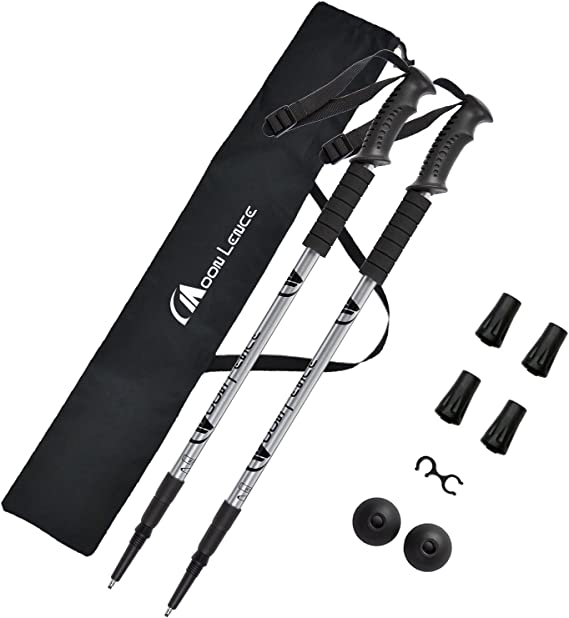 Collapsible Hiking Trekking Sticks with Quick Lock System 7075 Aluminum EVA Grip Handle for Mountaining KWNRAOR Trekking Poles Camping Backpacking