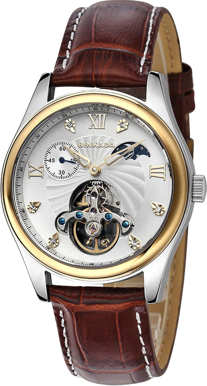 BINKADA自動機械ホワイトダイヤルメンズ腕時計# 800202 – 3 B014VP119S