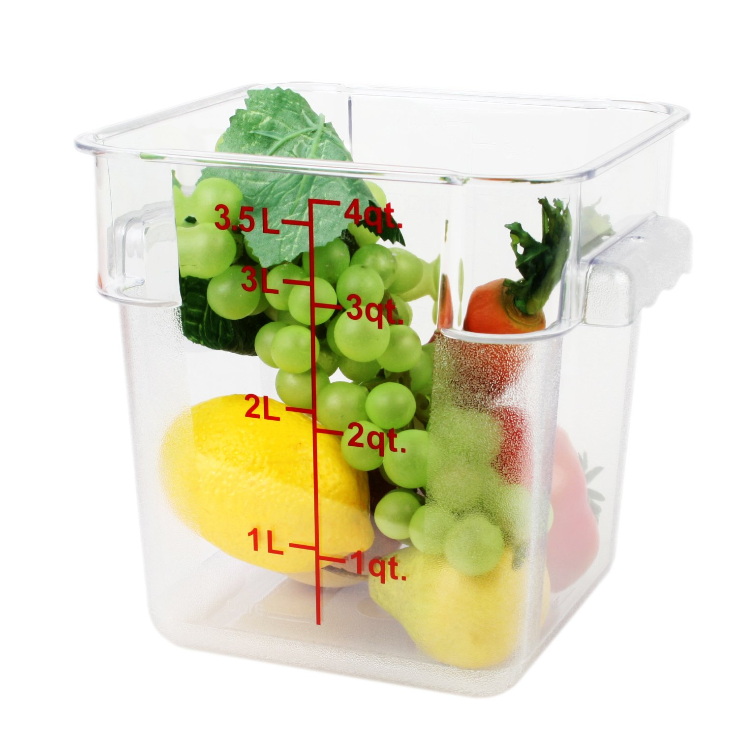 Excellante 4-Quart Polycarbonate Square Food Storage Containers, Clear by Excellant (Image #2)