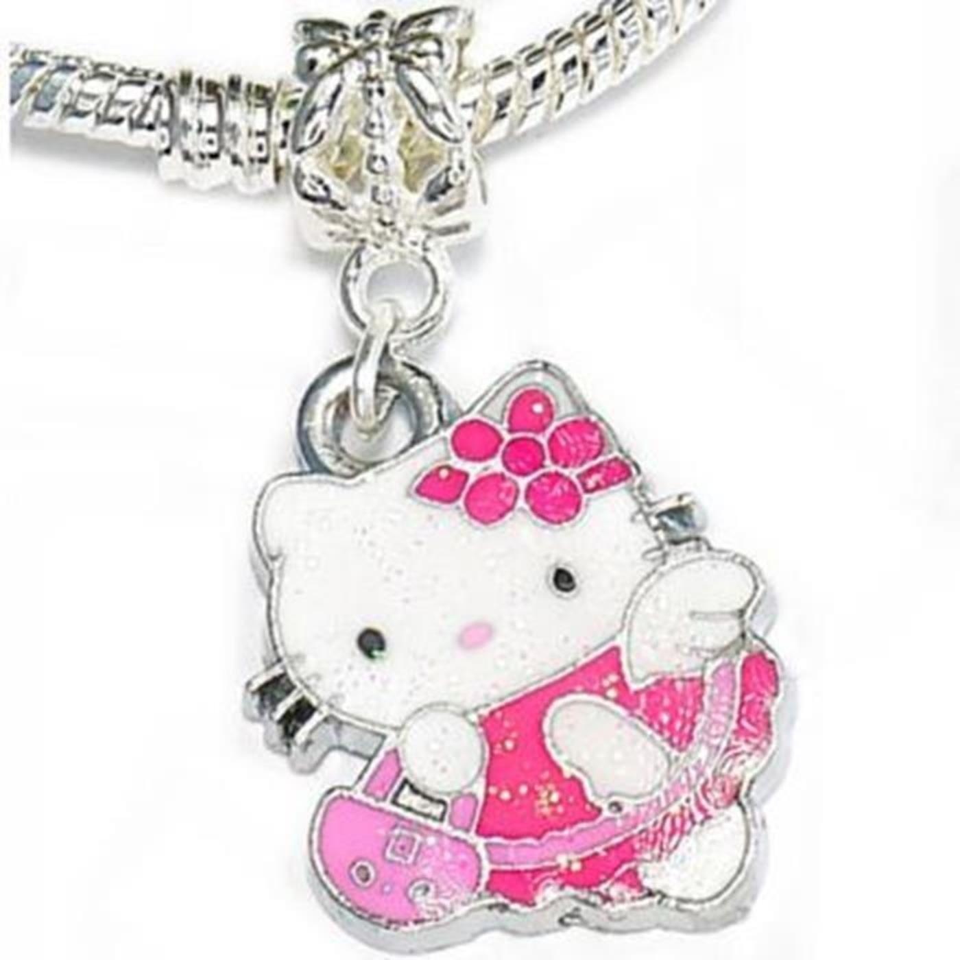 Hello Kitty - Pink Glitzer Anhänger