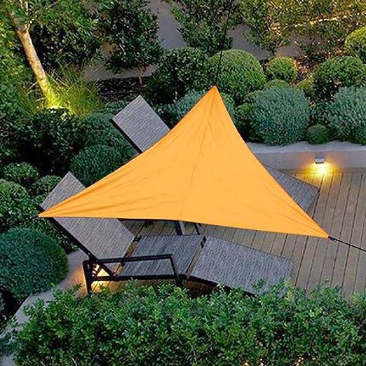 Bluelliant Toldo a Vela Exterior Triangular Camping De Playa Horizontal Impermeable Jardín Sombra Universal Terraza, Naranja: Amazon.es: Jardín