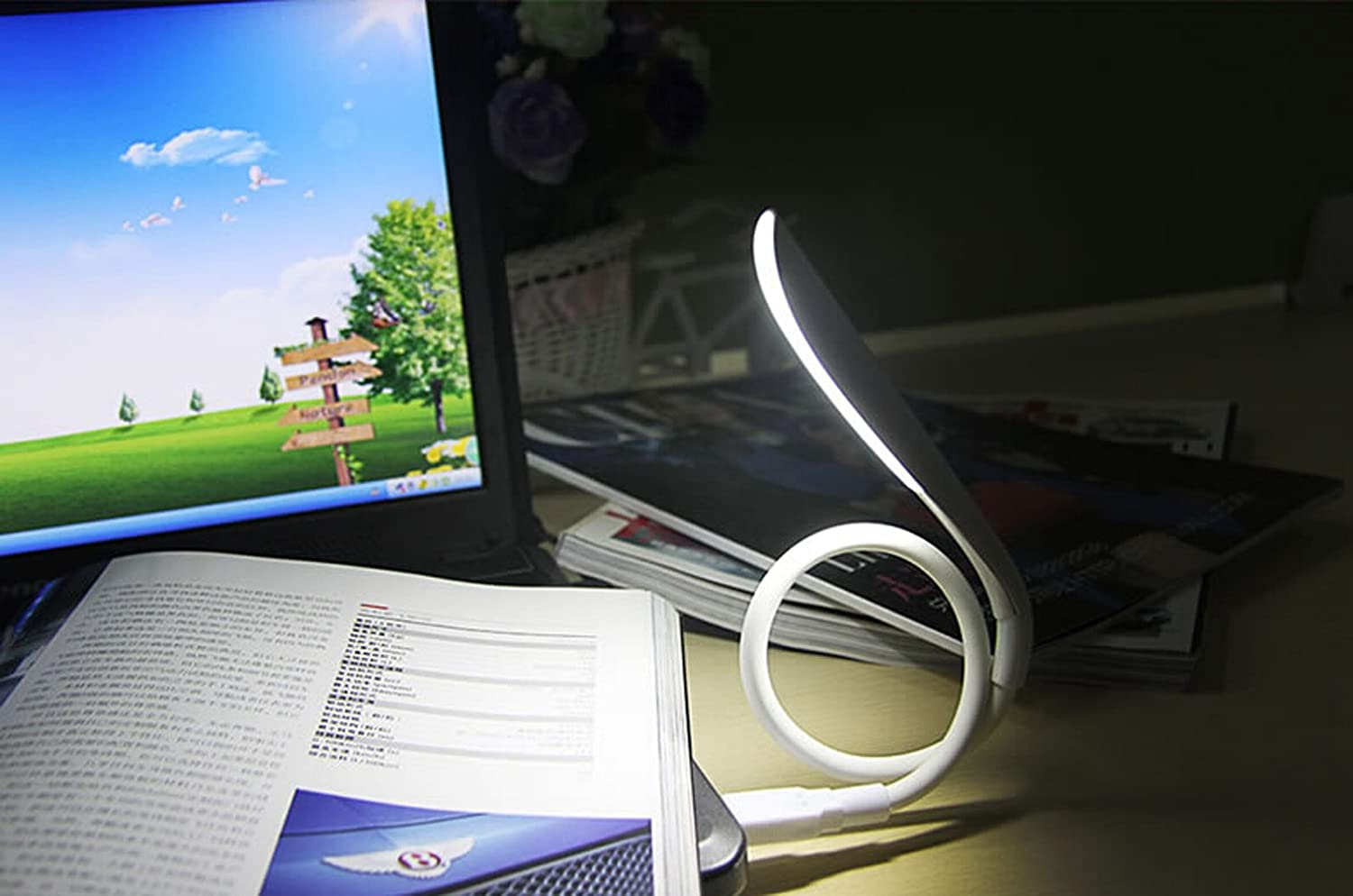 Bxt Mini Flexible Led Usb Light Bed Night Reading Light White Computer Usb Lamp For Laptop Notebook