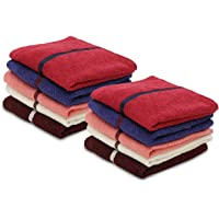 Palatial Lifestyles® 10 Piece Face Towel Set.Ultra-Soft for Sensitive Skins,Highly Absorbent & 100% Cotton Zero Twist Towels,Size 30x30 cm(12 X 12 Inch)