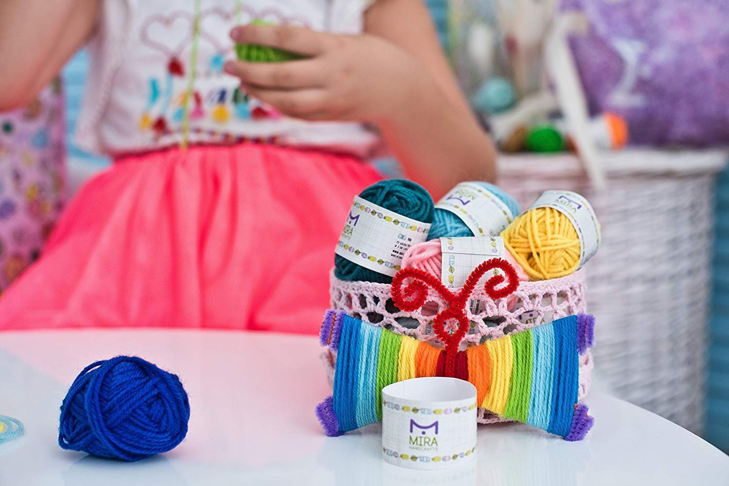 Mira Handcrafts 60 Yarn Bonbons - Total of 1312 Yard Acrylic Yarn for Knitting and Crochet - Yarn Bag for Storage and Accessories Included with Each Pack by Mira HandCrafts (Image #7)