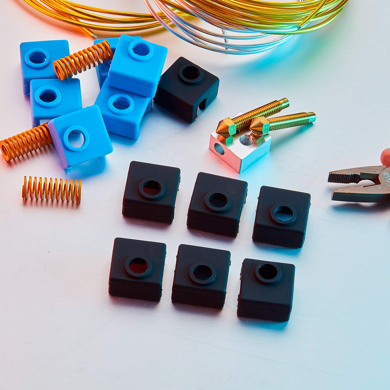 S5 MK7 // 8//9 Impresora 3D Hotend Extrusora Anet A8 S4 10 Piezas de Calcet/ín de Silicona de Impresora 3D Cubierta Bloque de Calentador Compatible de Impresora 3D con Creality CR-10 Ender 3