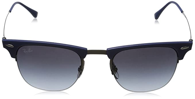 bcfb640aa8 Amazon.com  Ray-Ban CLUBMASTER LIGHT RAY RB8056 - 165 8G Sunglasses Blue  Gunmetal 51mm  Ray-Ban  Clothing