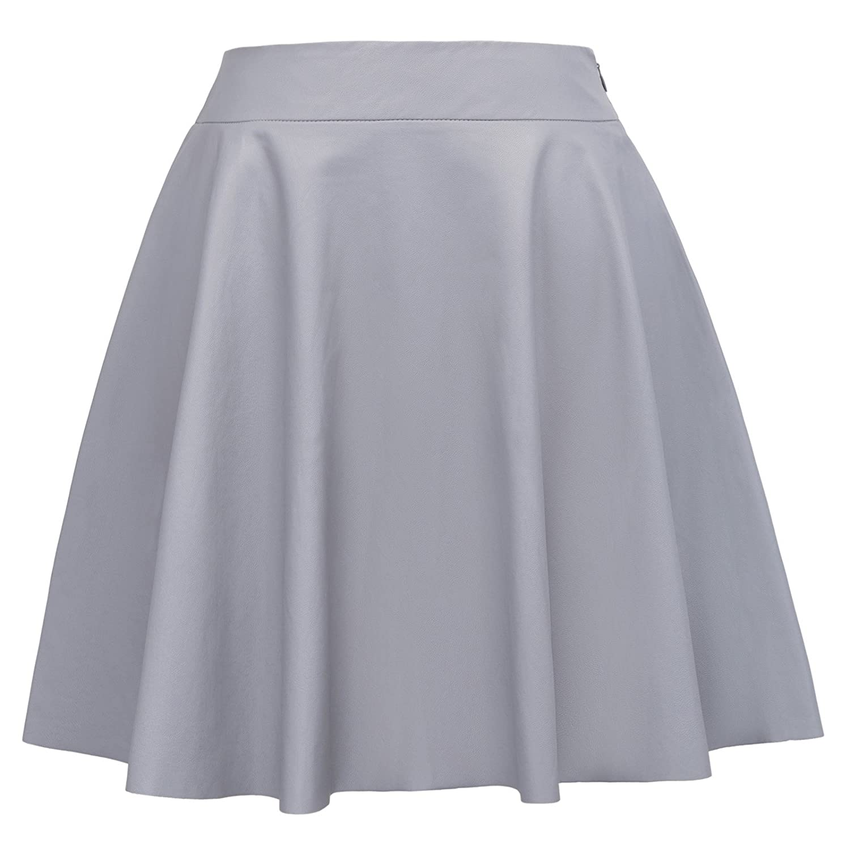 Falda de Fiesta Supermini Cuero Sintético Plisado de Moda XL KK519 ...