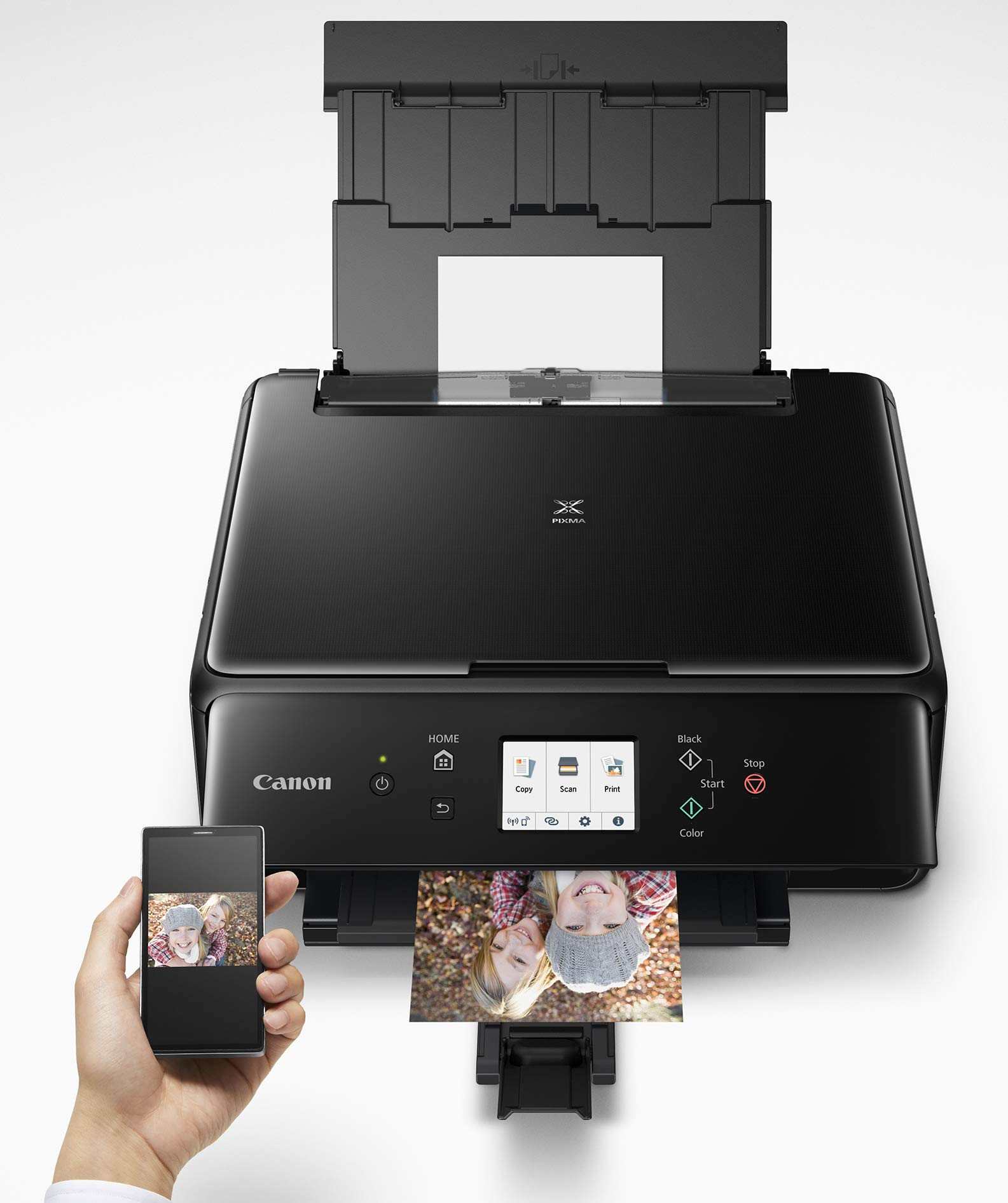 Canon 2986C002 PIXMA TS6220 Wireless All in One Photo Printer with Copier, Scanner and Mobile Printing, Black by Canon (Image #4)