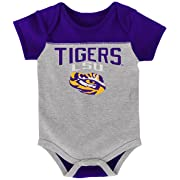 NCAA by Outerstuff NCAA Lsu Tigers Newborn & Infant  Vintage Baby  2pc Bodysuit Set, Multi, 24 Months