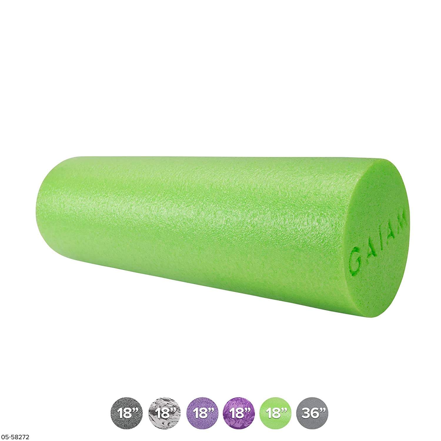 Gaiam Restore Muscle Massage Therapy Foam Rollers (18 inch & 36 inch)