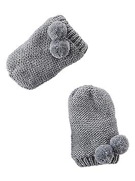 5b5e55a773b VERTBAUDET Ensemble bonnet + moufles + tour de cou chouette bébé fille Gris  chiné 3