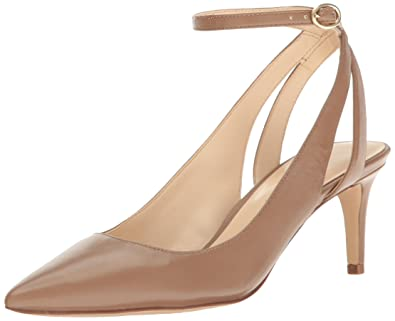 Nine West Women's Shawn Leather Dress Pump, Natural, ...