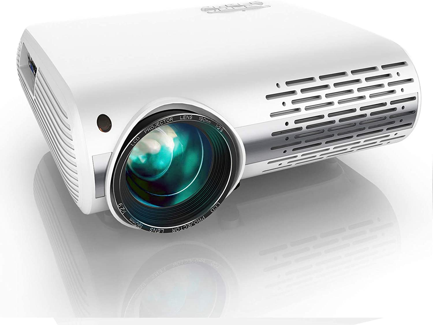 YABER Y30 Native 1080P Projector 7000 Lux Upgrade Full HD Video Projector 1920 x 1080, ±50° 4D Keystone Correction Support 4k & Zoom,LCD LED Home Theater Projector Compatible with Phone,PC,TV Box,PS4: Electronics