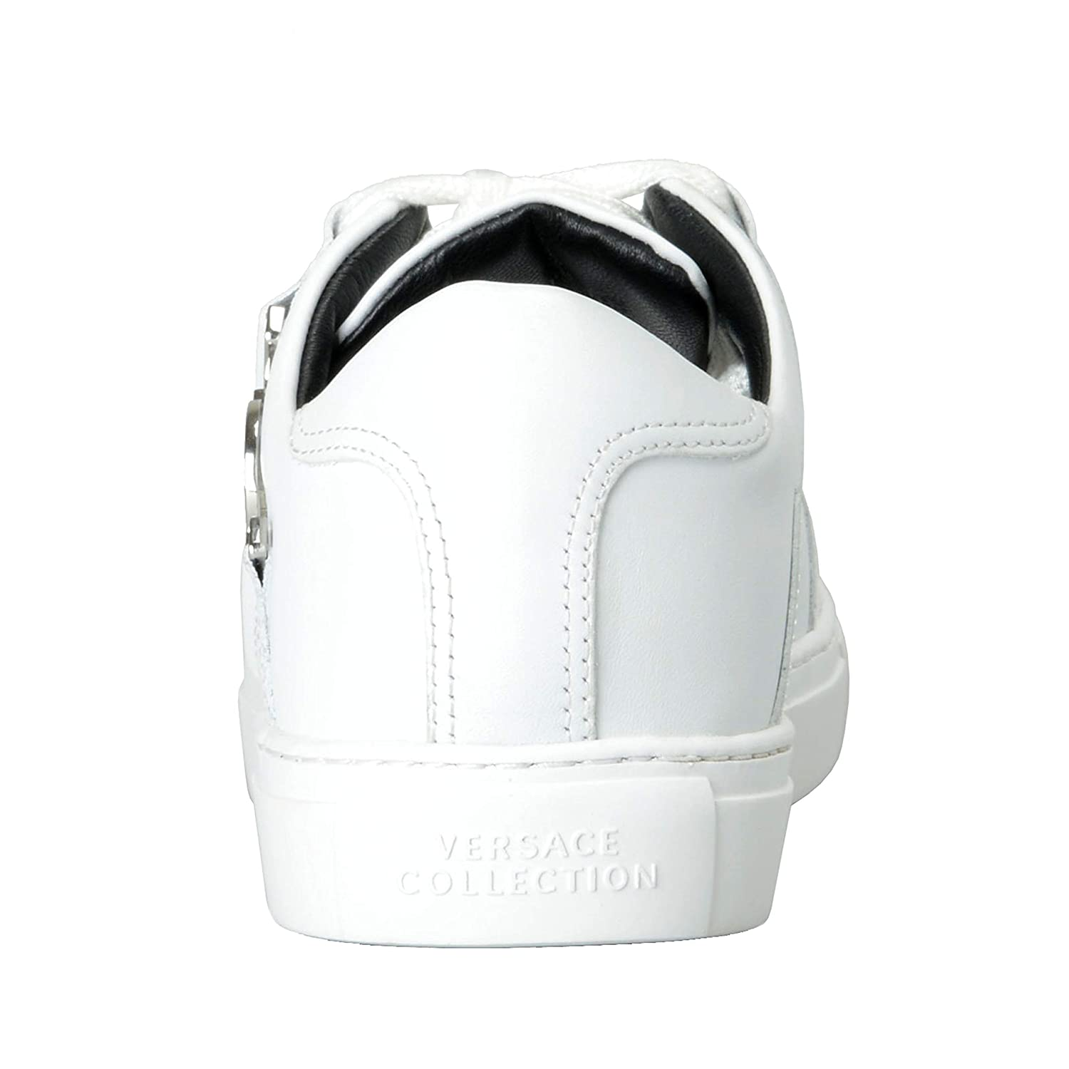 Amazon.com: Versace Collection Men's White Leather Fashion ...