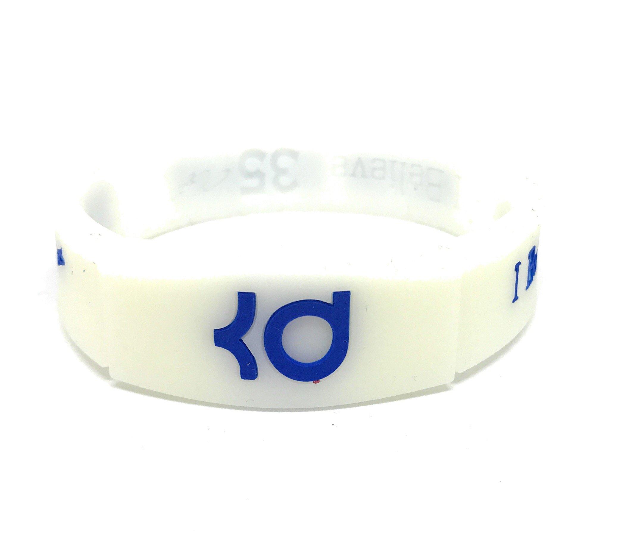 KIDS SportsBraceletsPro REVERSIBLE KIDS Wristband KIDS SIZE 6.7'' Size Bracelets EXCELLENT GIFT IDEA (Durant KID 6.7'' White)