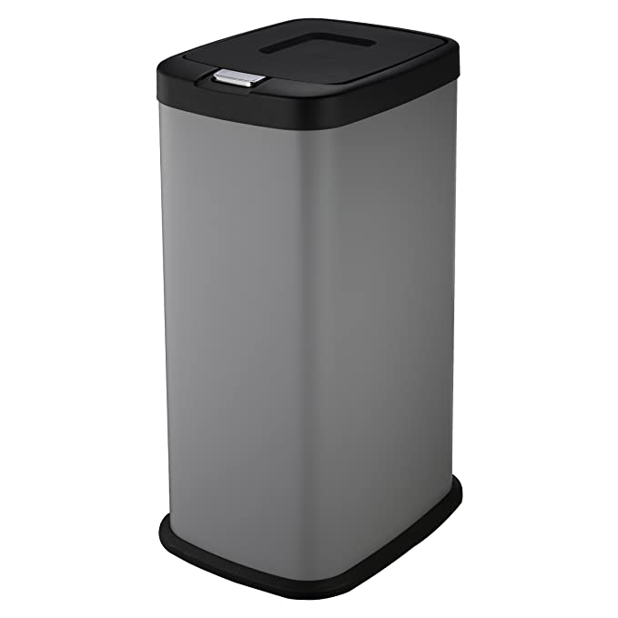 Mari Home Cream 48 Litre Steel 2 in 1 Foot Pedal Recycle Rubbish Bin Dustbin 2 x 24L Recycling Garbage Kitchen Eco Waste Trash Can