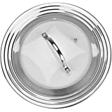 Universal Lid for Pots, Pans and Skillets, Stainless Steel and Tempered Glass, Fits All 7 Inch to 12 Inch Pots and Pans…