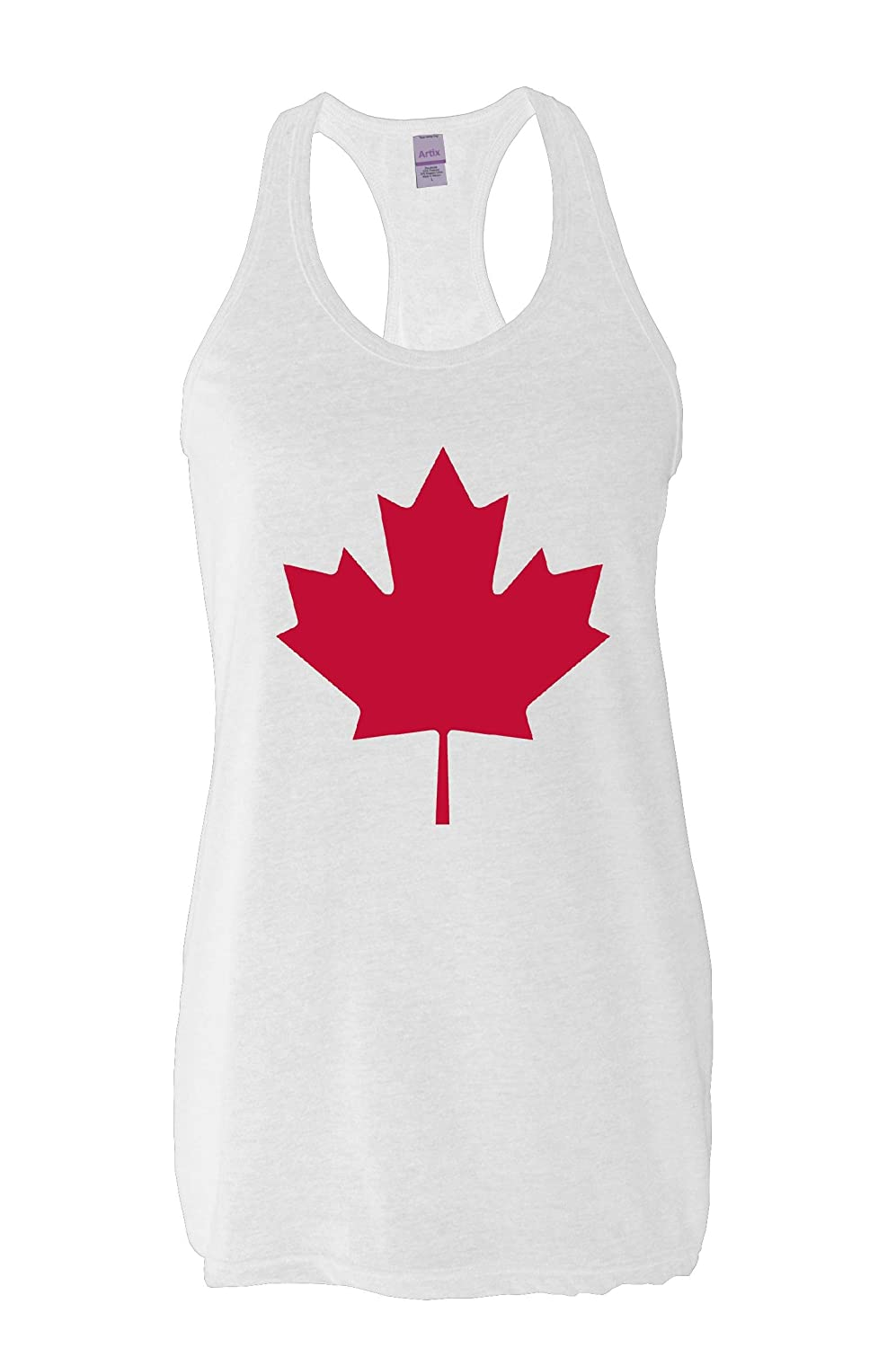 Amazon.com: Ugo Canada Maple Leaf What to do in Canada? Vancouver Travel Guide Canadian Map Gift Womens Next Level Racerback Tank: Clothing