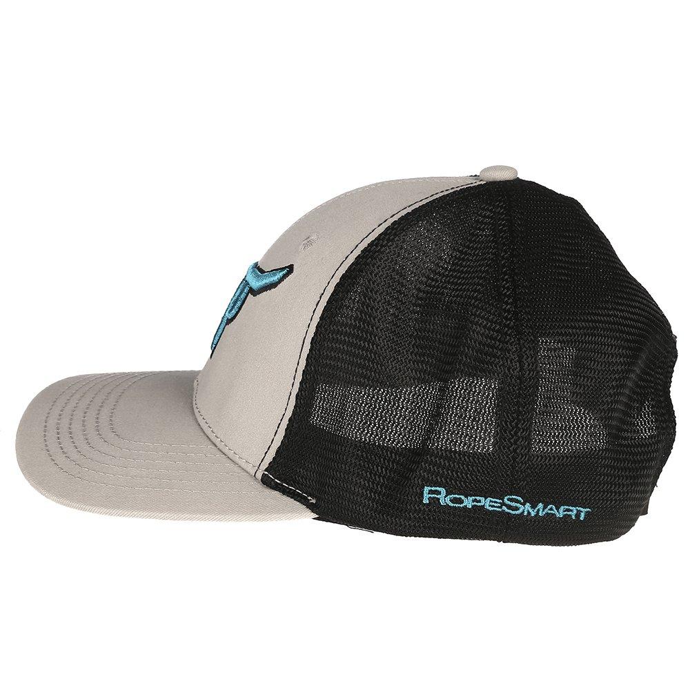 65e5491a4d6 Ropesmart Mens Flat Cap w Teal Logo OS Grey at Amazon Men s Clothing store
