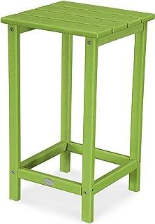 """product image for POLYWOOD ECT26LI Long Island 26"""" Counter Side Table, Lime"""