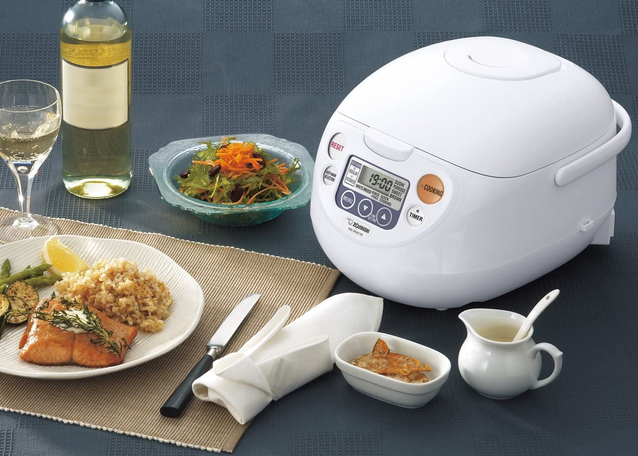 Zojirushi NS-WAC10-WD 5.5-Cup Uncooked Micom Rice Cooker and Warmer