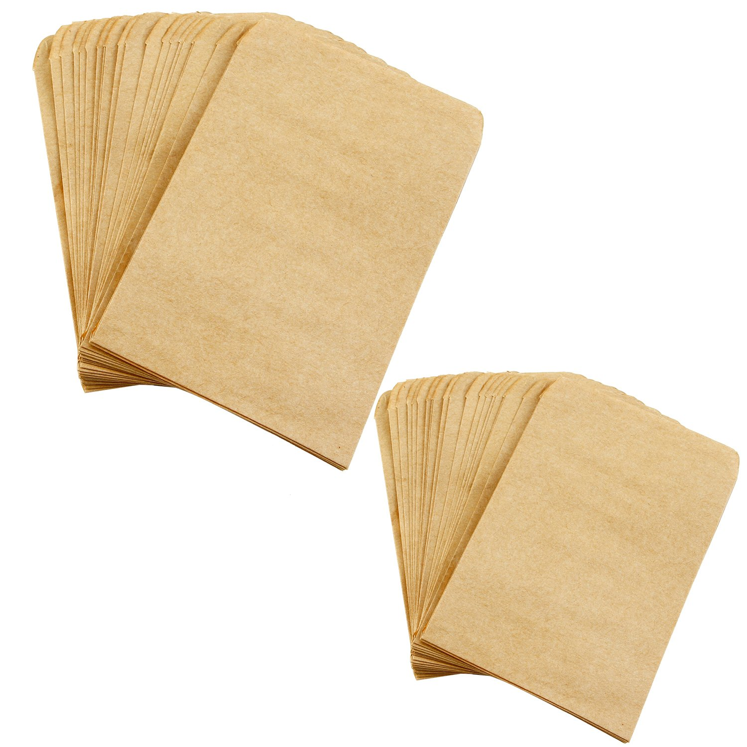 Aneco 200 Pieces Seed Envelopes Kraft Seed Paper Bags Mini Coin Packets Envelopes for Home and Garden Use, 2 Size