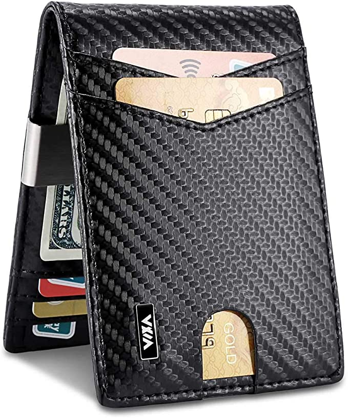 Mens Wallets slim Front Pocket RFID Blocking
