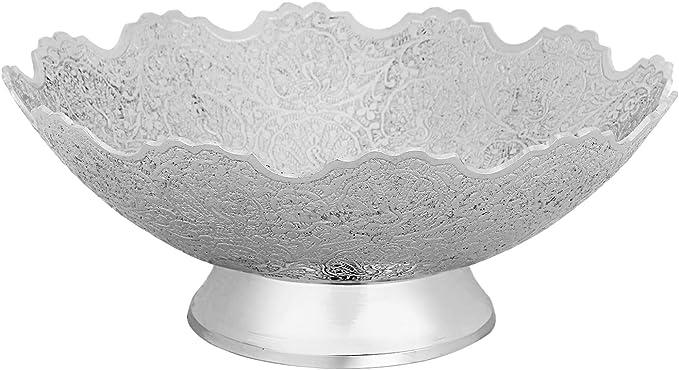Best Service Fruit Plate Silver Punched Candy Dish Decorative Center Bowl Service Bowl Weidilidu Large Ceramic Fruit Bowl Salad Bowl Unique Modern Design Fruit Bowls Bowls