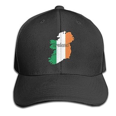 Map Of Ireland On Your Face.Men Women Ireland Flag Map 1 Outdoor Duck Tongue Hats Adjustable