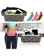 Dolloress Running Waist Bag Pouch Belt Runner Waist Pack Mobile Phone Keys Wallet Card Storage Pouch Bag for Hiking Cycling Climbing Jogging