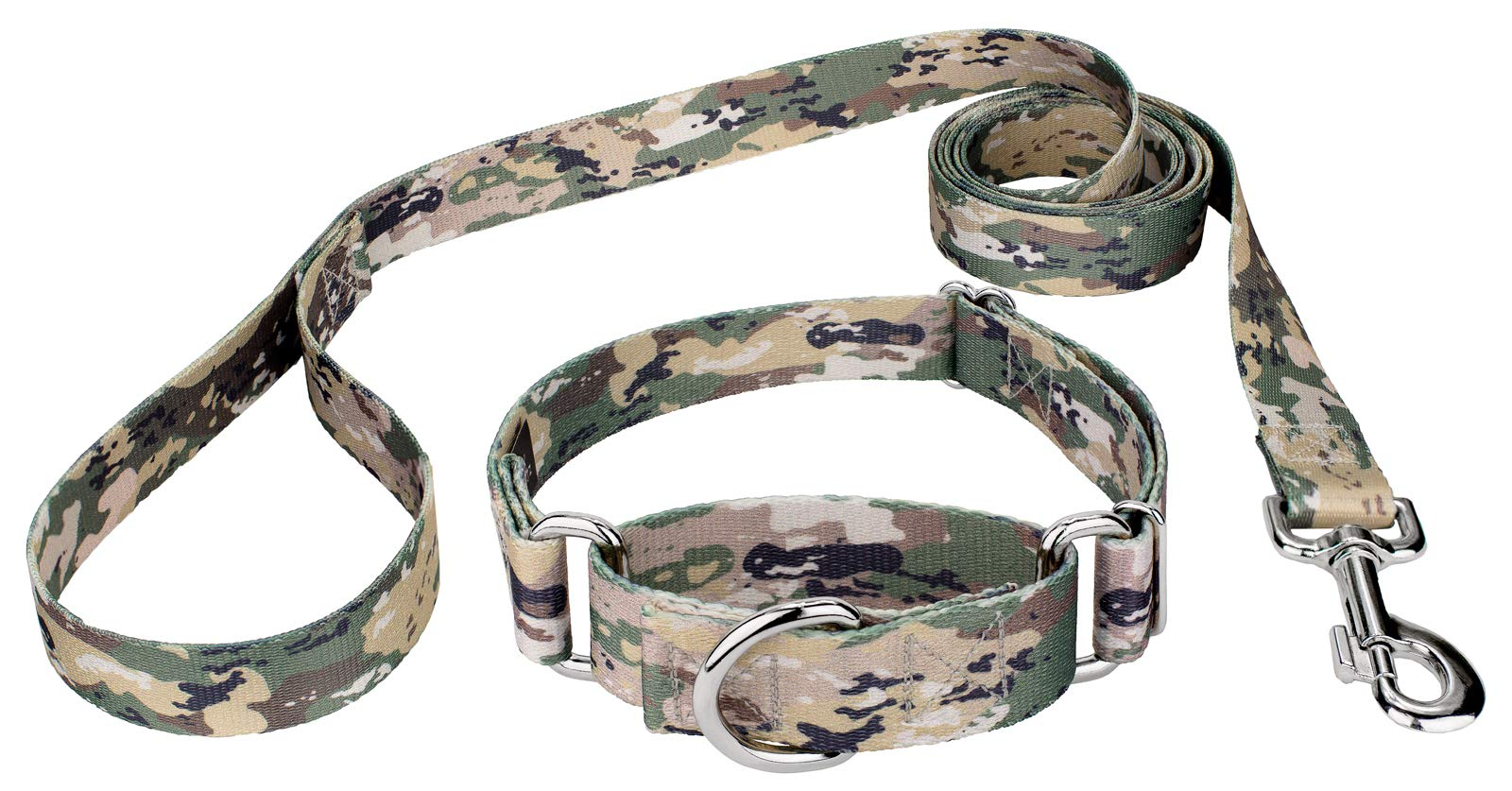 Country Brook Design Mountain Viper Camo Martingale Dog Collar & Leash - Medium by Country Brook Design