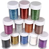 Glitter for Slime, Teenitor Extra fine Glitter Shakers in Shaker Jars, Great for Slime, Art and Crafts, Nail Art Polish…