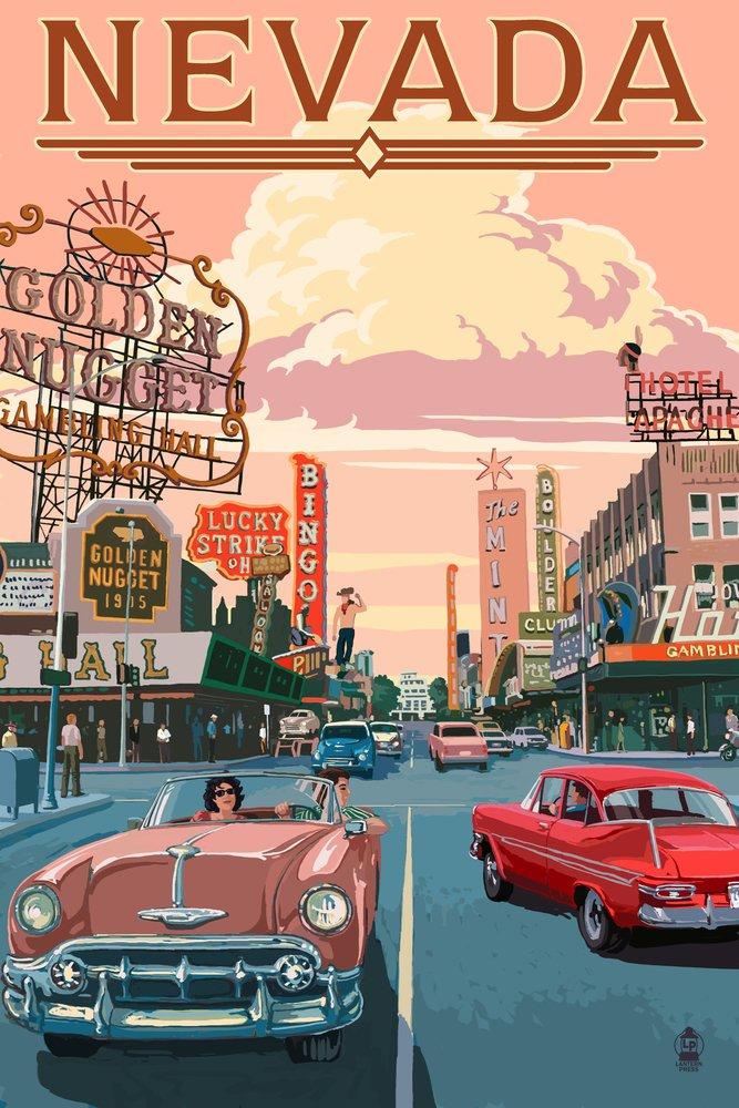 Nevada – 古いストリップシーン 36 x 54 Giclee Print LANT-50122-36x54 B017E9ZVZ8  36 x 54 Giclee Print
