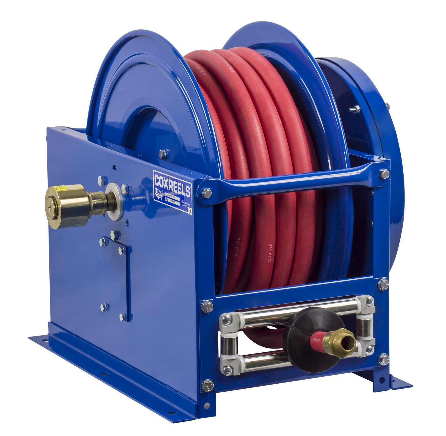 Coxreels SLPL-650 Single Hose Spring Rewind: 1'' I.D., 50' hose capacity, less hose, 300 PSI