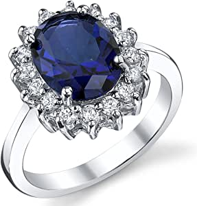 solid sterling silver kate middleton s engagement ring with simulated sapphire blue color cubic zirconia amazon com solid sterling silver kate middleton s engagement ring with simulated sapphire blue color cubic zirconia