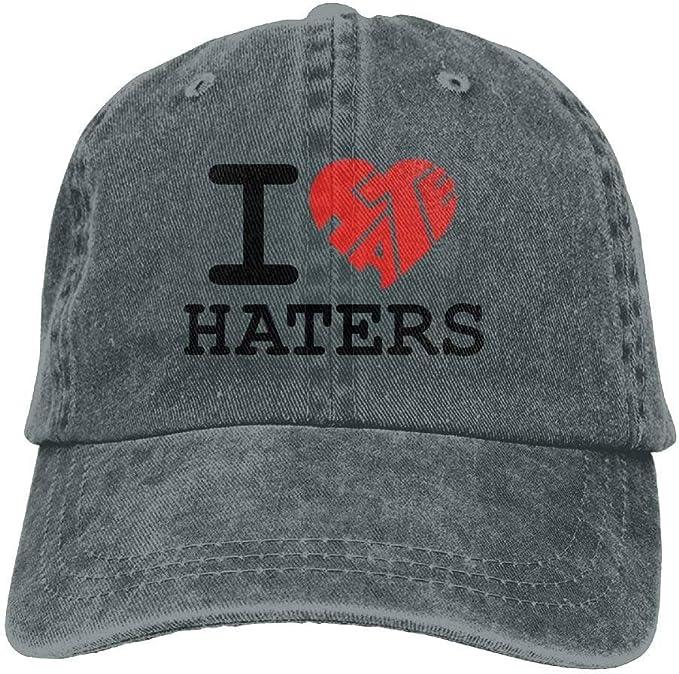 Ameok-Design I Love Haters - Gorra de béisbol Ajustable para Mujer ...