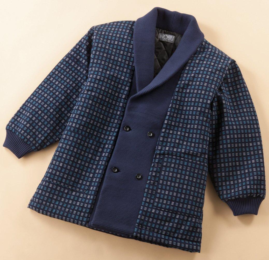 半纏(はんてん) ジャケット風 和柄 久留米織り袢纏 日本製 (紳士用男性用) B076HFR7Y3