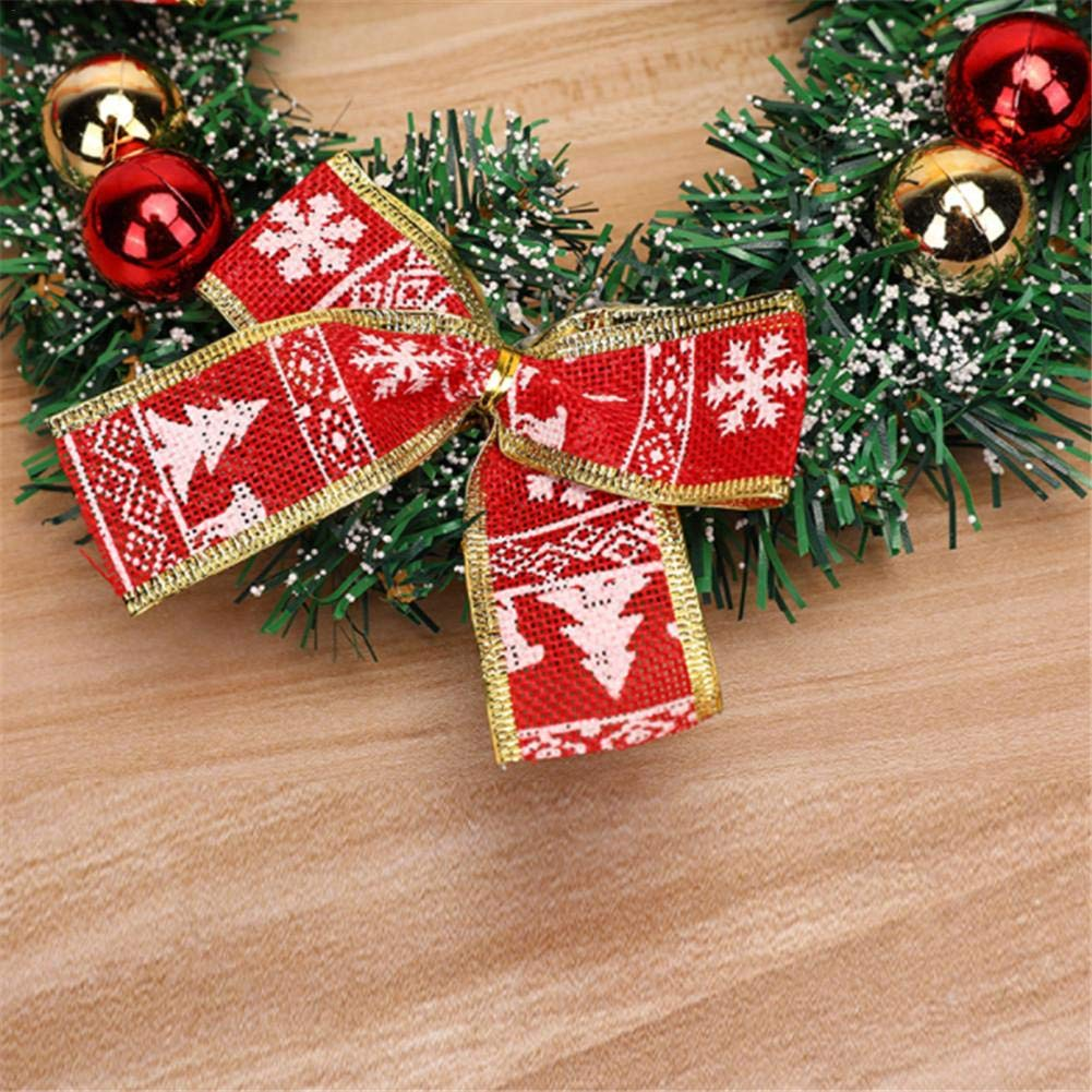 Seasons Shop 40cm Couronnes Et Guirlandes pour D/écoration No/ël Thanksgiving Ornement Suspendu Hiver pour Porte Mur Vitrine Centre Commercial companionable